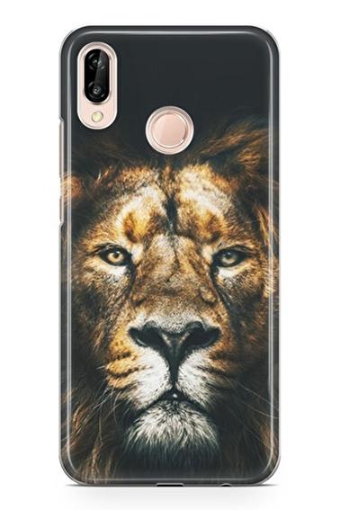 Lopard P20 Lite Kılıf Silikon Arka Kapak Koruyucu Best Lion Desenli Full HD Baskılı Renkli